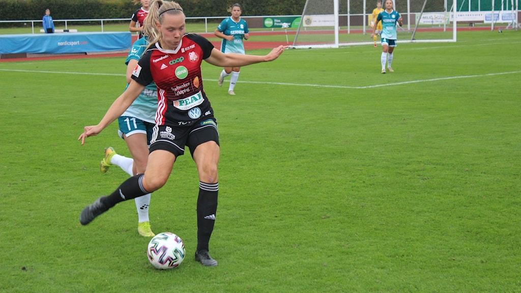 Lidköpings FK på gång.