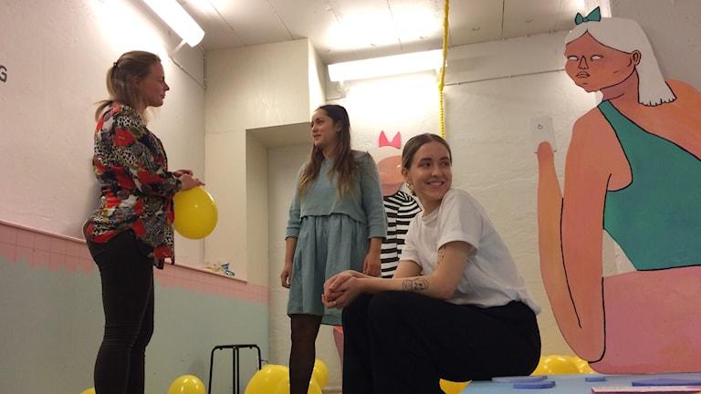 Maria Synnerdahl, Amanda Österberg och Bim Eriksson