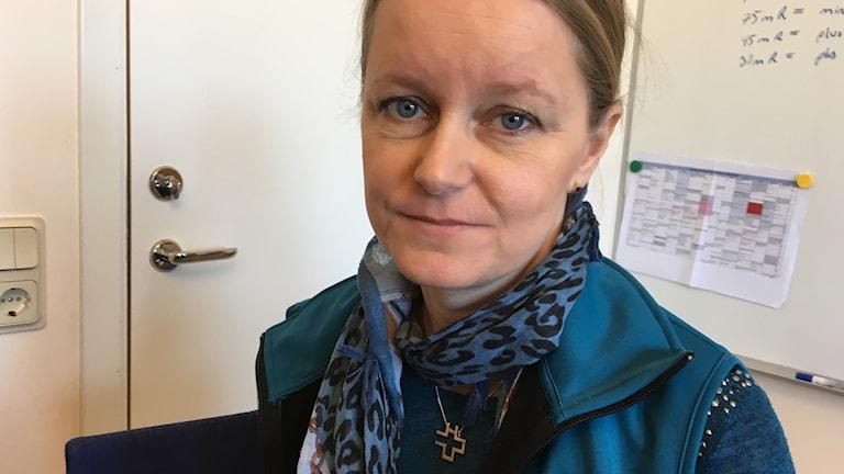 Lene Lorenzen är förtroendevald för Vårdförbundet vid Skaraborgs sjukhus.