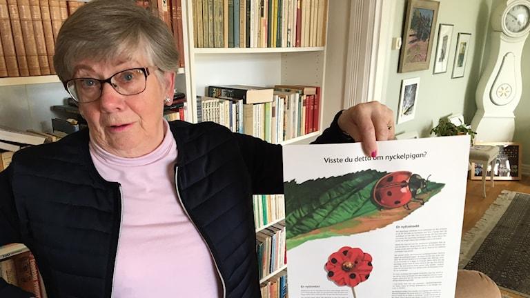Margareta Nilsson, Majblommans ordförande i Skövde.