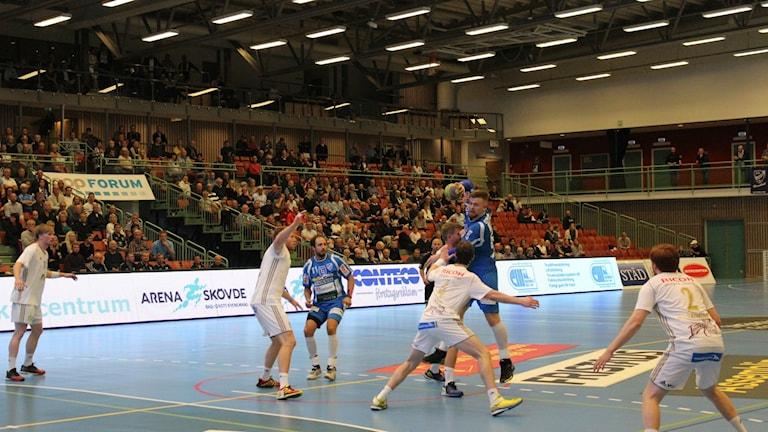 IFK Skövde i anfall. Foto arkiv Tommy Järlström Sveriges Radio