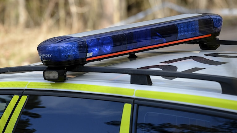 blåljus polis siren polisbil