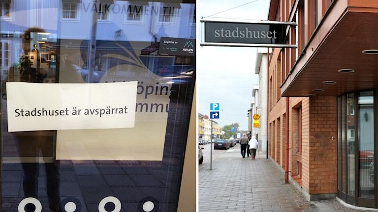 Bombhot mot Stadshuset i Lidköping