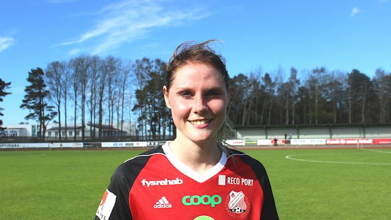 Sandra Lagerbratt målskytt mot Umeå. Foto arkiv Tommy Järlström Sveriges Radio