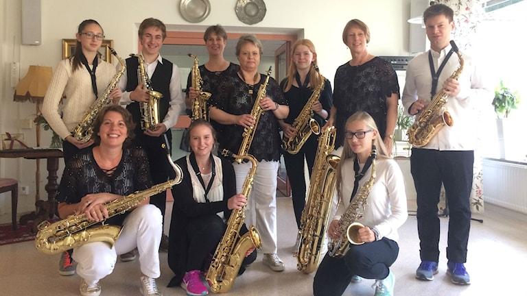 Saxofonisterna, Rollin' Phones tillsammans med musikeleverna från Lidköping.