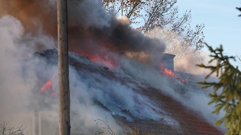 villabrand Friel utanför Grästorp