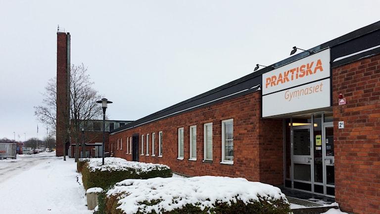 Exteriör Praktiska gymnasiet Skövde