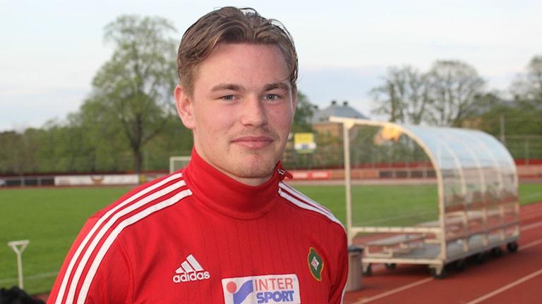 Rasmus Örqvist gjorde två mål för sitt SAIK. Foto Tommy Järlström P4 Sveriges Radio.