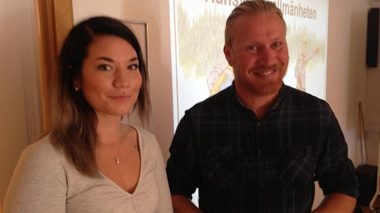 Blivande jaktledare går kurs, Martina Friberg och Karl-Mikael Bremer