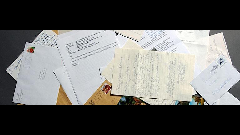 Lyssnarnas brev till Da Capo. Foto: Sveriges Radio