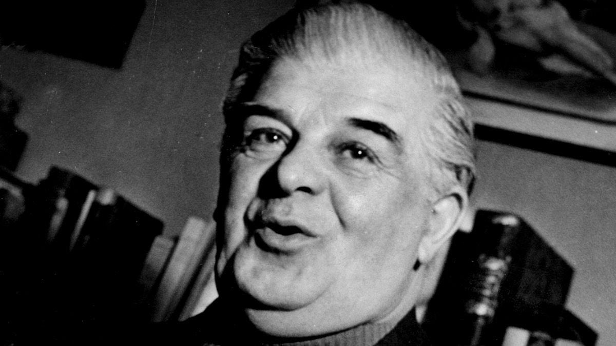 Evert Taube på sin 60-årsdag.