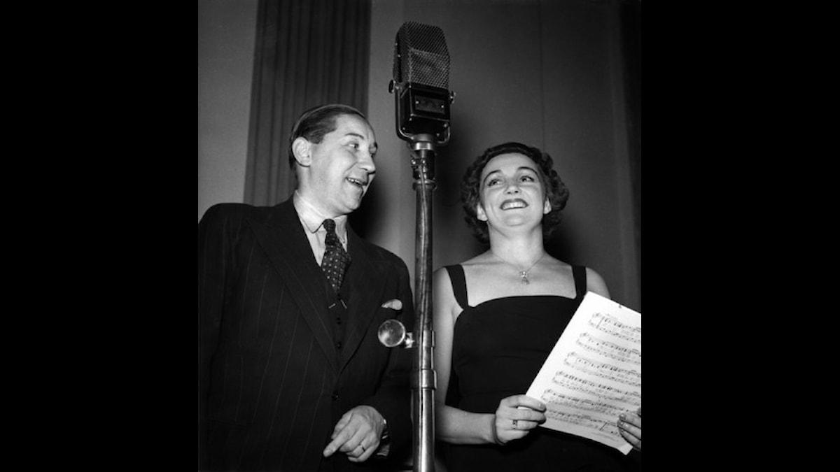 Hilmer Borgeling och Ulla Billquist