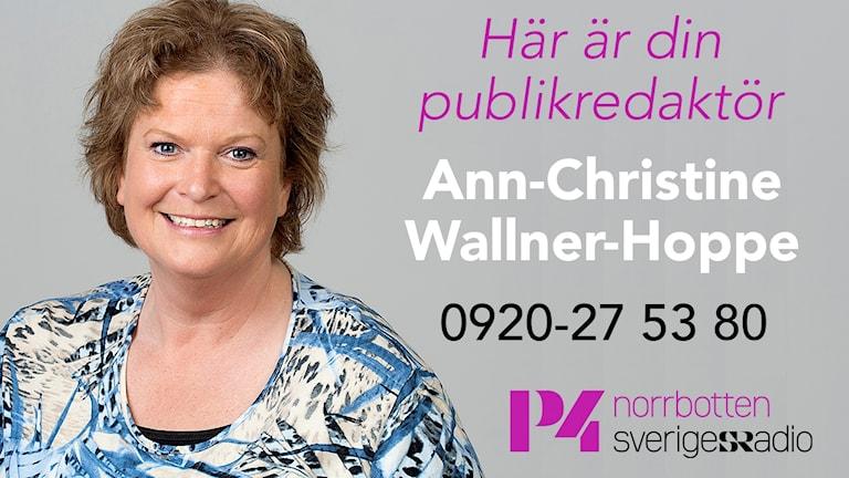 Publikredaktör Ann-Christine Wallner-Hoppe.