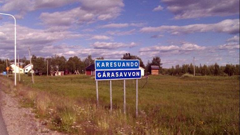 Södra infarten till Karesuando.