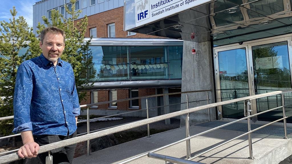 Forskaren Johan Kero vid Institutet för rymdfysik i Kiruna.