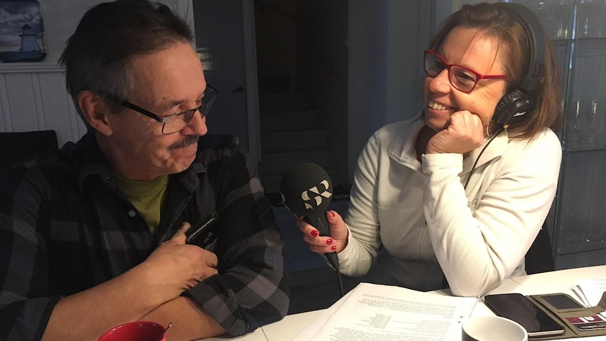 P4 Norrbottens Lena Callne intervjuar lyssnaren Allan Stenman i Lenatorp.