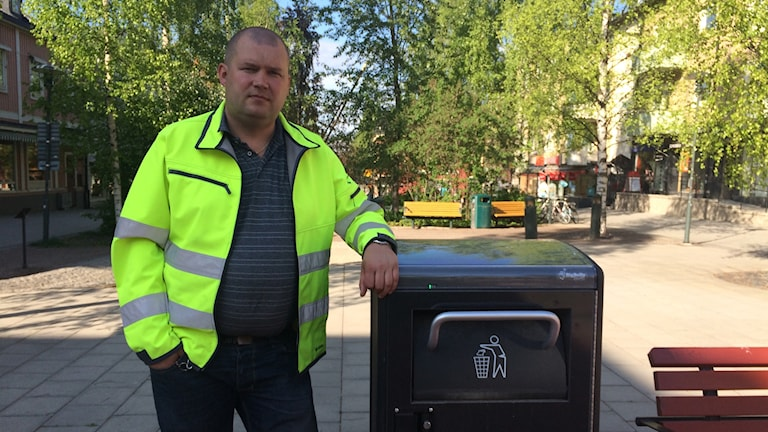 Micael Kemi, produktionsledare teknik- och gatukontoret i Piteå. Foto: Ann-Christine Wallner-Hoppe/ Sveriges Radio