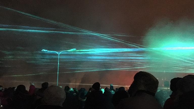 Lasershowen i Boden.