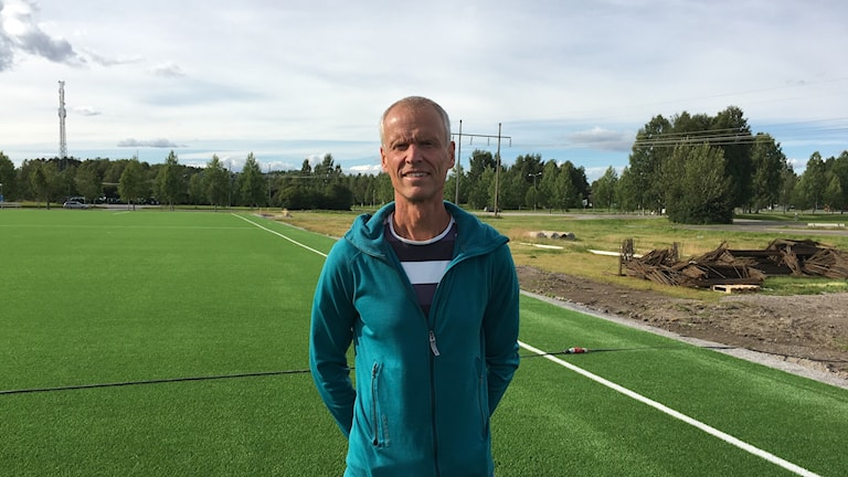 Per Lenndin är projektledare för övertryckshallen i Piteå.