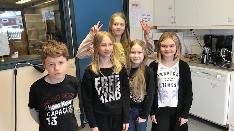 Barnpanelen Rosviks skola Ella Gyllenhaal Isabella Taavola Fanny Esberg Emilia Vestman Alvin Lundström