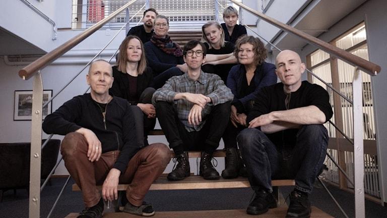 Medlemmarna i JORD – världsmusikbandet från Tornedalen.