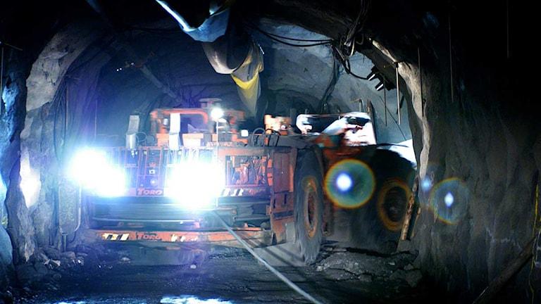 Lastare i LKAB:s gruva i Kiruna. Arkivfoto: Fredrik Persson/Scanpix.