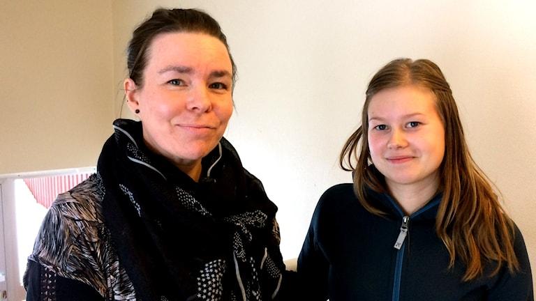 Sara Asplund och Vanja Andrén jobbar med skyddade områden.
