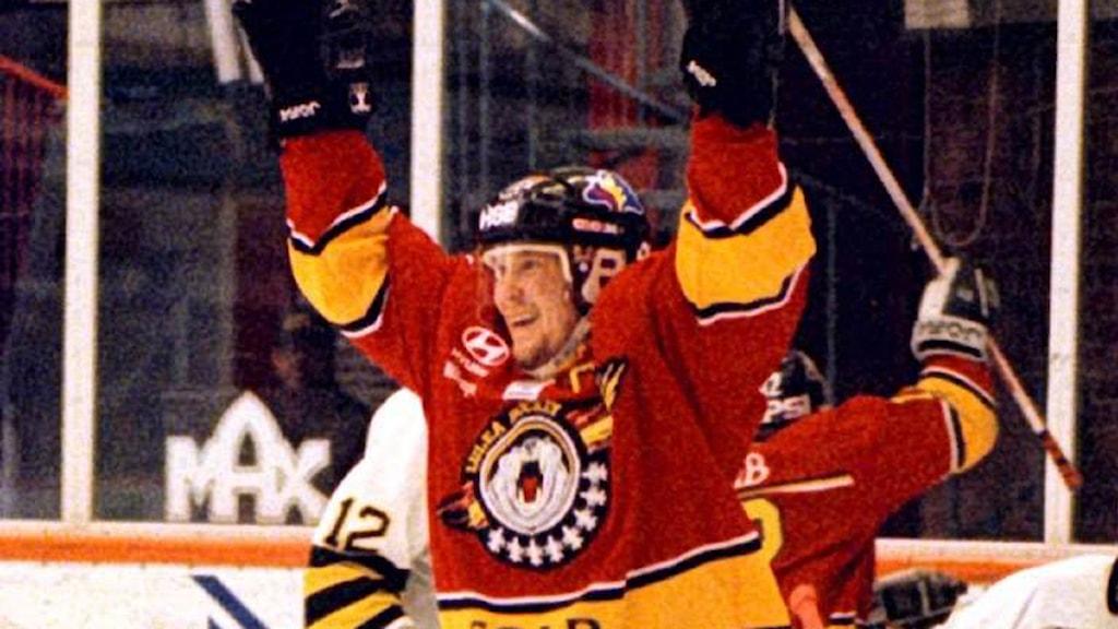 "Stefan ""Skuggan"" Nilsson i Luleå Hockey 1997. Foto: Alf Lindbergh/Scanpix."