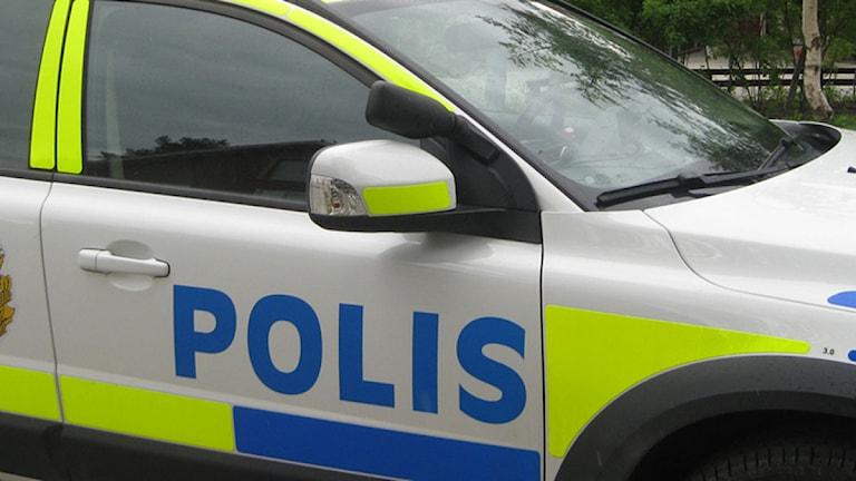 Polisbil. Foto: Reine Sundkvist/Sveriges Radio.