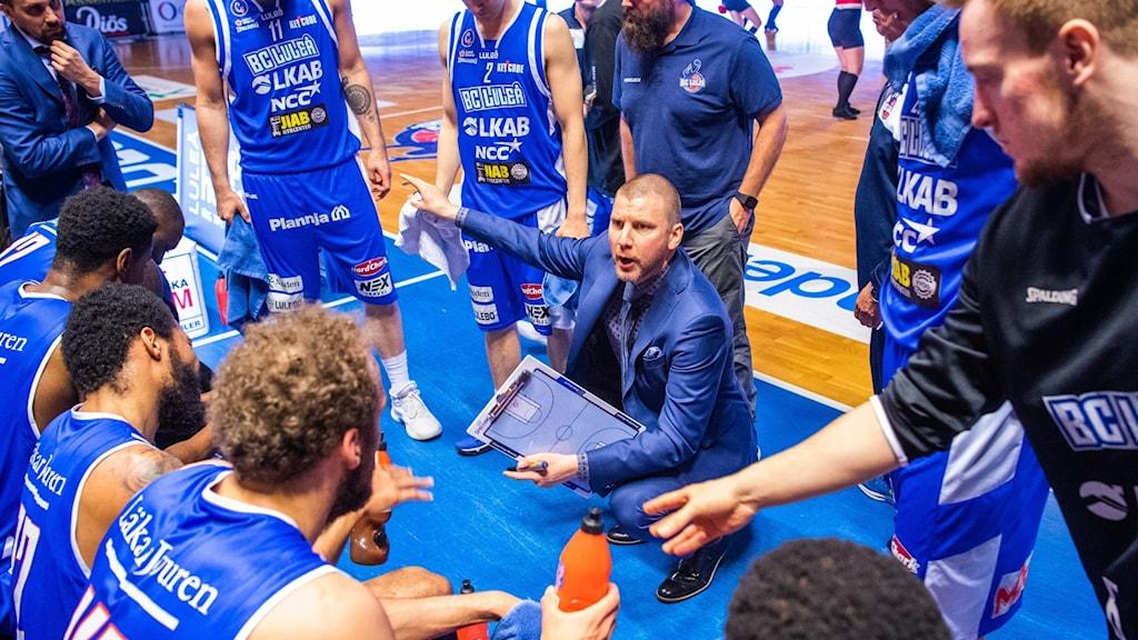 Peter Öqvist, tränare för BC Luleå (arkivbild).