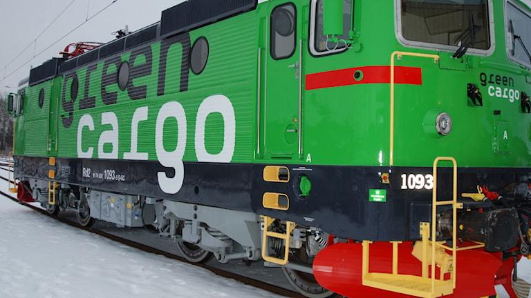 Grönt lok tillhörande företaget Green Cargo.