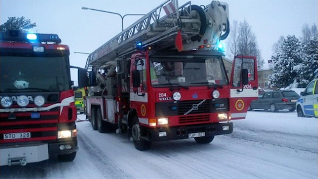Brandbilar. Foto: Reine Sundkvist/Sveriges Radio.
