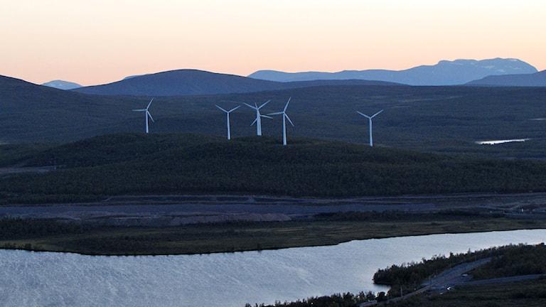 Vindkraftverken på Viscaria.