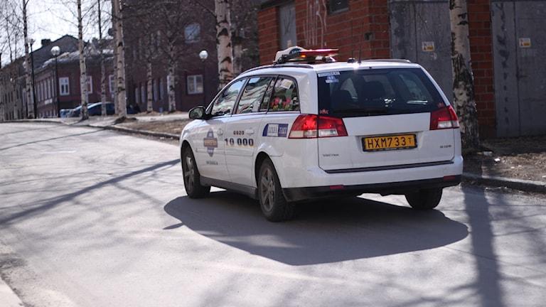 En taxi i Luleå. Foto: Ida Brännström/ Sveriges Radio.