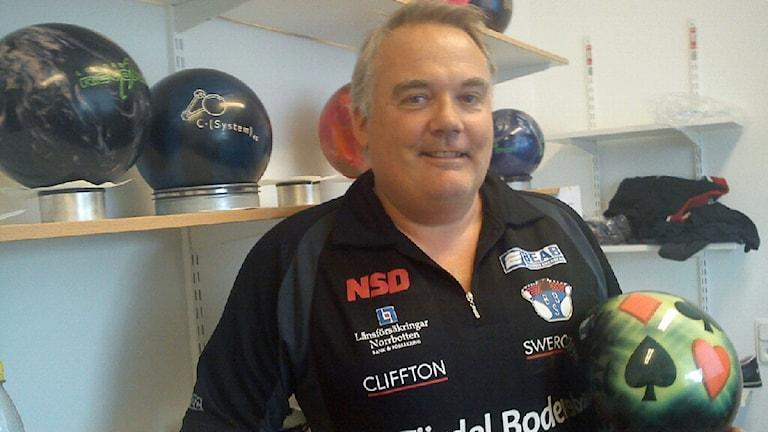 Mats Andersson, Bodens bowlingsällskap. Foto: David Zimmer/Sveriges Radio.