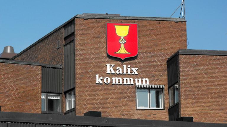 Taket på kommunhuset i Kalix kommun. Foto: Carin Sjöblom/ Sveriges Radio.