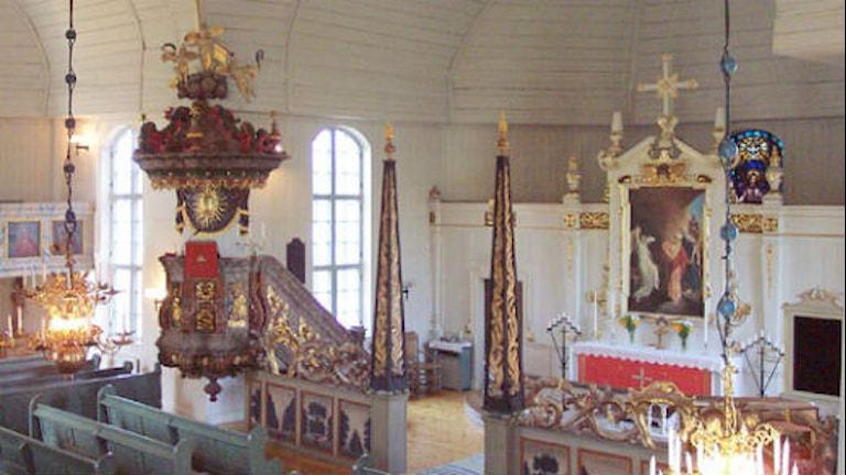 Övertorneå kyrka, interiör. Foto: Luleå Stift