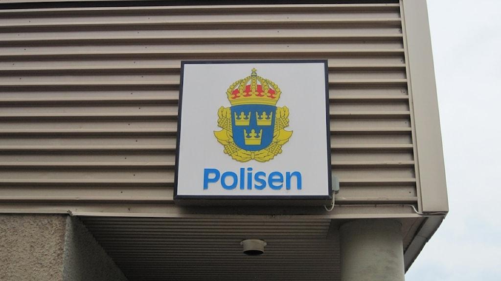 Polisenskylt i Luleå. Foto: Dick Kardell, P4 Norrbotten