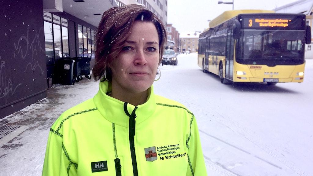Maria Kristoffersson, gatuchef på Bodens kommun.