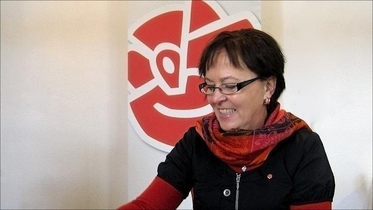 Karin Åström (S). Foto Stig-Arne Nordström/Sveriges Radio.