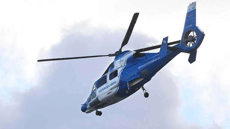 Ambulanshelikopter. Foto: Fredrik Sandberg/TT
