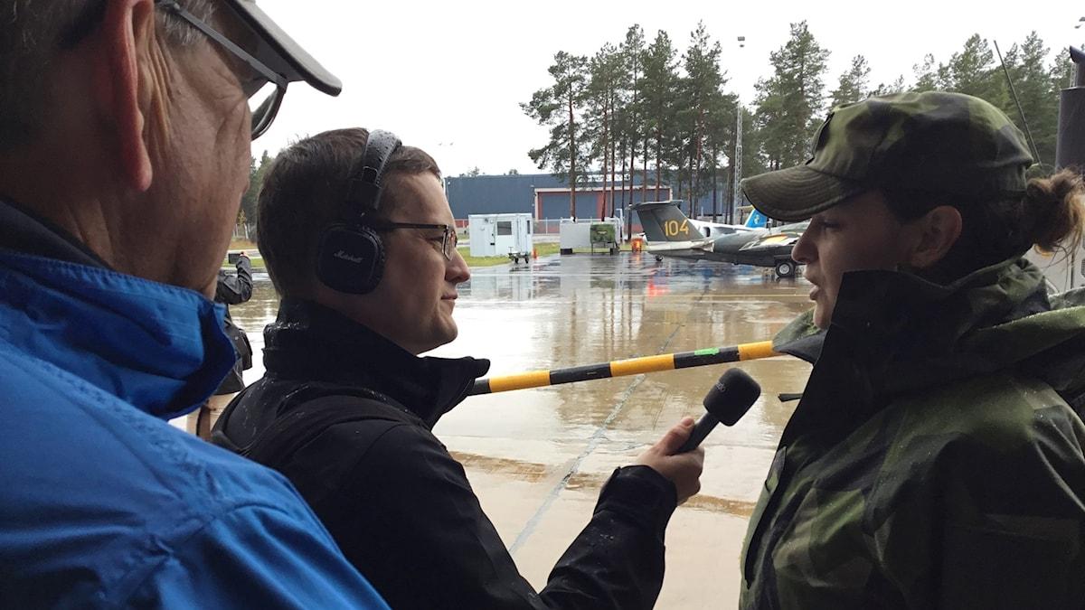 André Pettersson på f 21 inför flygdag