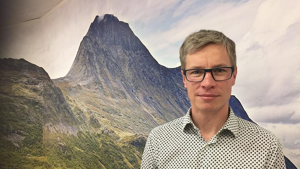 Mattias Berglund, projektledare på mötesplatsen Vallje i Gällivare.