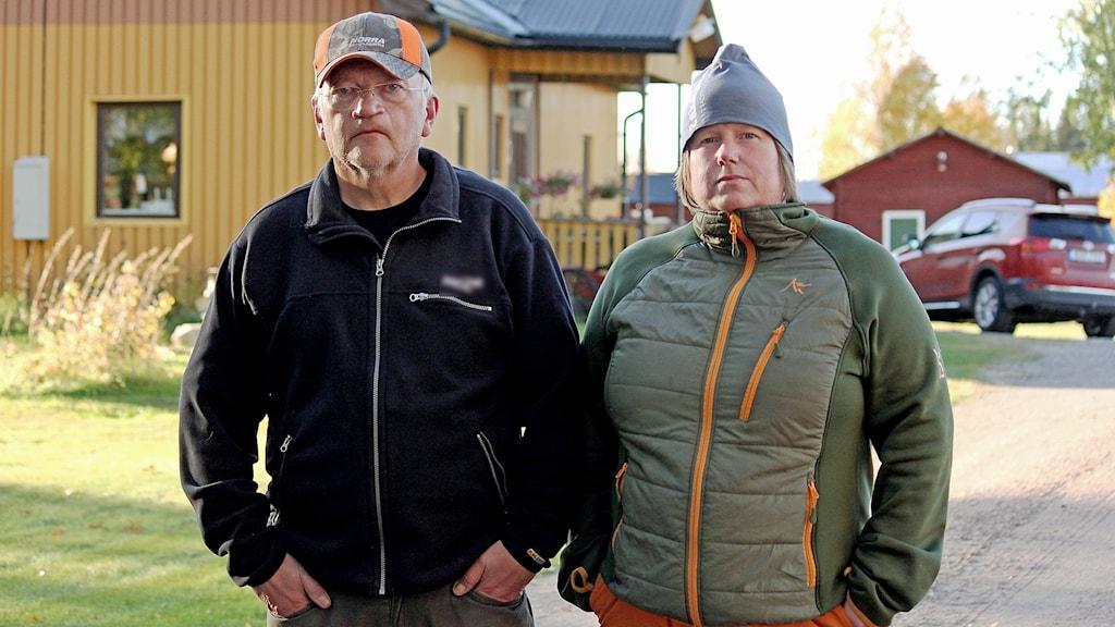 Lars-Åke Omma och Katarina Sundelin i Sakajärvi är besvikna på Boliden.