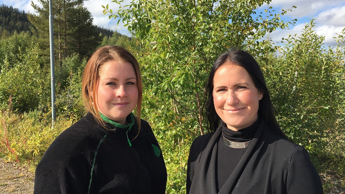 Nina Ökvist och Ida Åhman, Arvidsjaurs brukshundklubb.