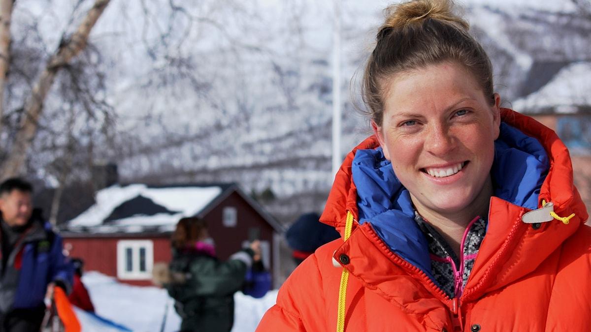 Gina Johansen har åkt skidor från Nordkap till Abisko.