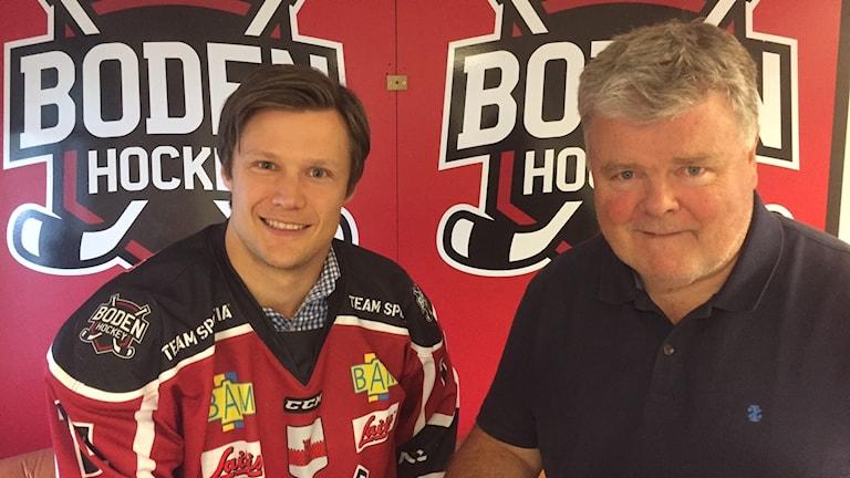 Viktor Lindmark och Rolf Nilsson GM Boden hockey