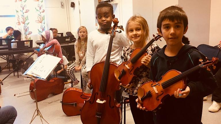 Hassan Katembo,9,  Alma Ask 9,och Robin Samin 10