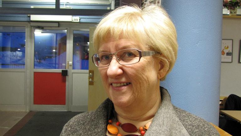 Rektor Ingegerd Mäki, Pajala. Foto: Eva Kvist/ Sveriges Radio.