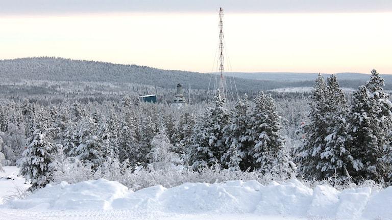 Esranges uppskjutningsramp. Foto: Alexander Linder/ Sveriges Radio.